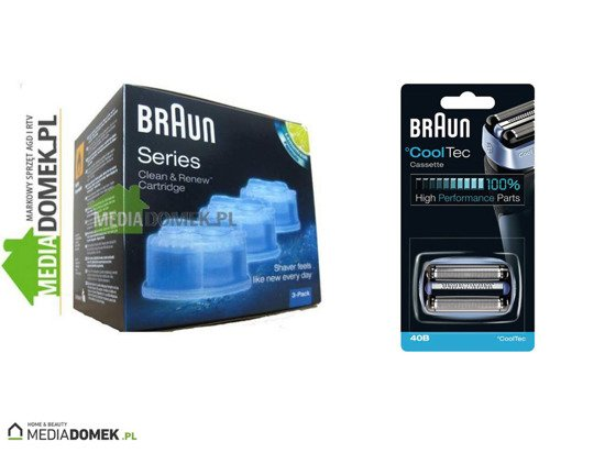 Zestaw Braun Folia + Blok ostrzy 40B Series CoolTec +Braun CCR 3