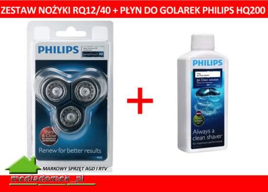 Zestaw Philips  RQ12/40+ płyn HQ200 HQ 200 WROCLAW RQ 1290 RQ 1250