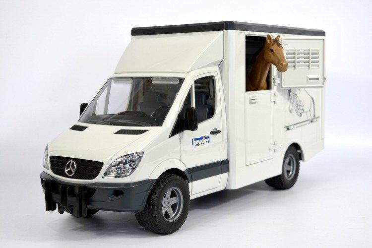 Bruder 02533 Sprinter do przewozu koni Mercedes