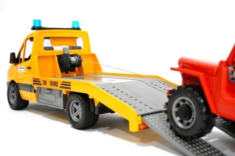 Bruder 02535 Sprinter pomoc drogowa+Jeep dźwięk