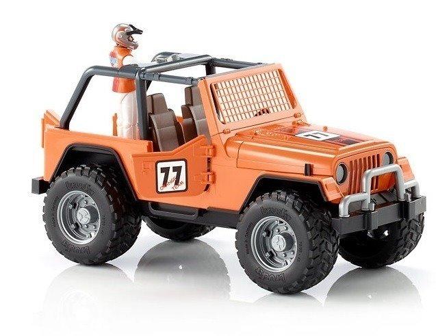 Bruder 02542 Jeep Cross Racer pomarańczowy z kierowcą