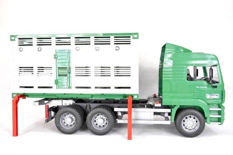Bruder 02749 Ciężarówka Man do przewozu zwierząt