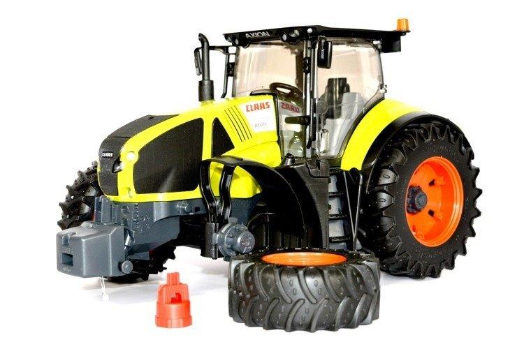 Bruder 03012 traktor Claas Axion950 odkręcane koła