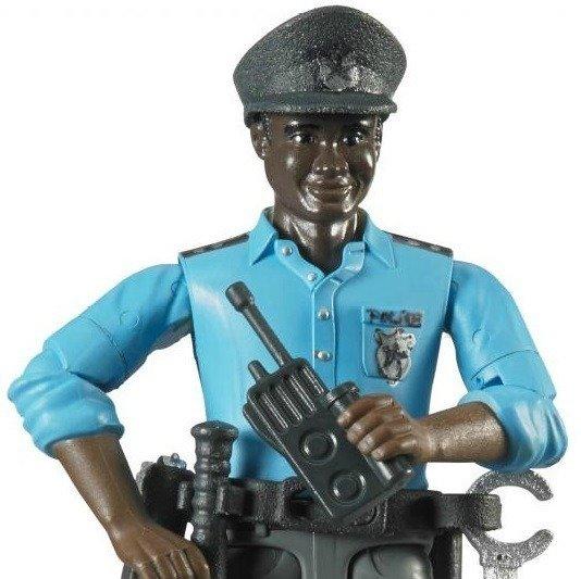 Bruder 60051 Figurka policjanta opalony+ akcesoria