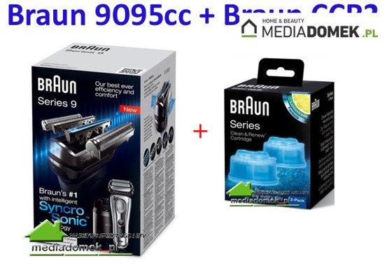 Golarka Braun Series 9 9095cc + CCR2  Wet&Dry Stacja czyszcząco-ładująca