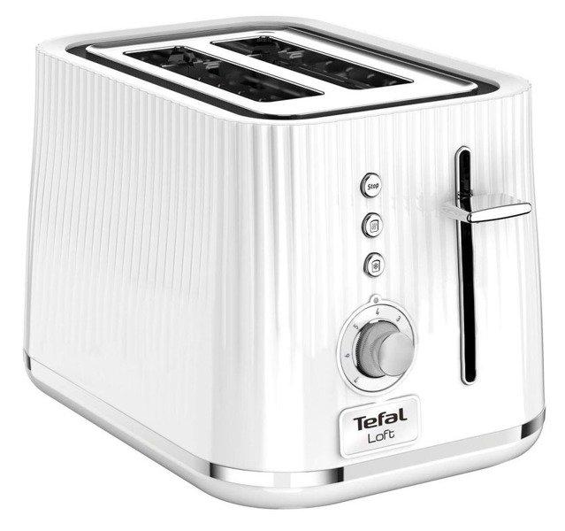 TEFAL TT7611/38 Toster Seria LOFT Biały Karbowany