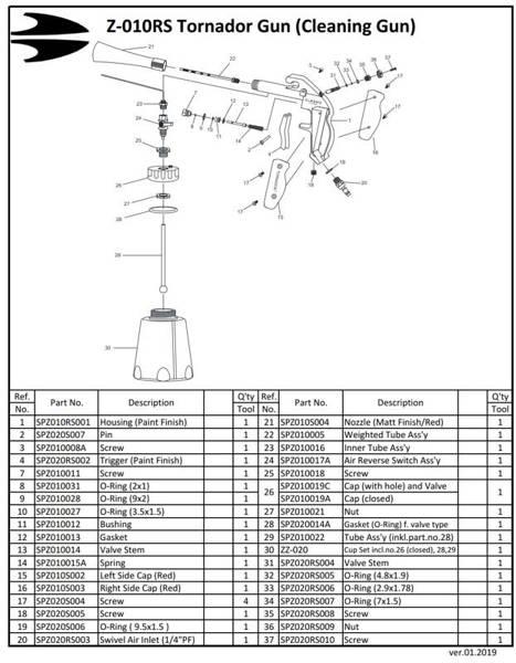 Tornador SPZ010005 Zestaw naprawczy do Z-010 014RS