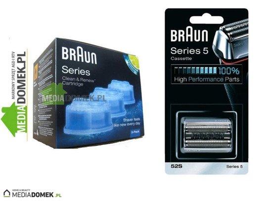 Zestaw Braun Folia + Nóż 52S + Braun CCR3