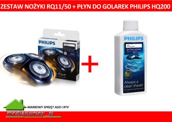 Zestawv Philips Element golący RQ11 / 50 + płyn HQ200 HQ 200