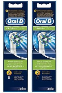 4 sztuki ORAL-B CROSS ACTION EB-50 ORGINAŁ 100%