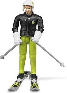Bruder 60040 bWorld figurka narciarza + akcesoria